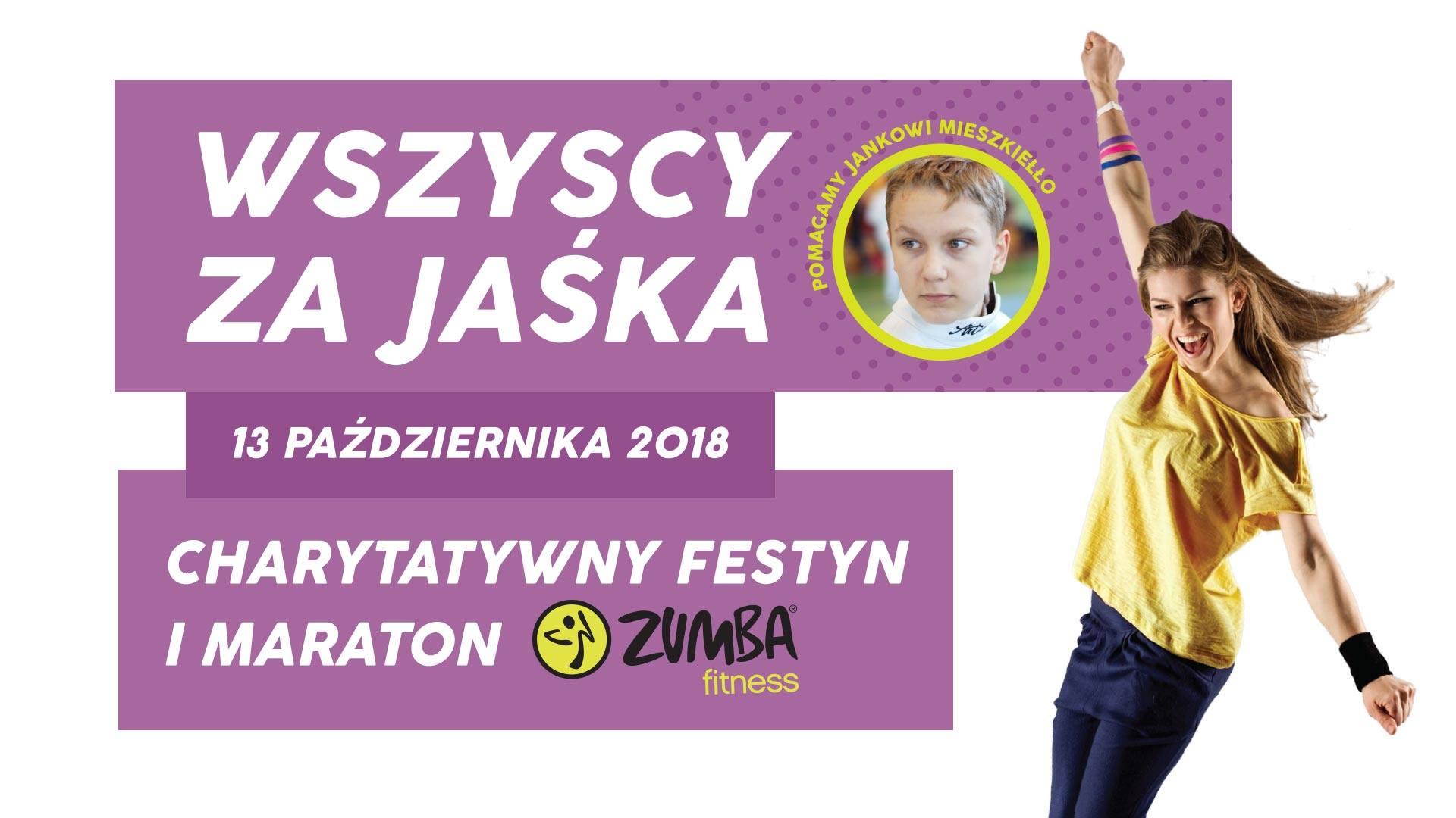 Ilustracja do informacji: CHARYTATYWNY FESTYN I MARATON ZUMBY: WSZYSCY ZA JASKA!